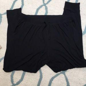Sonoma 1X black knit lounge pants polyester blend